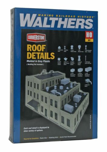 Walthers HO Scale Air Filter Building /& And Ductwork Kit #933-3503 NIB