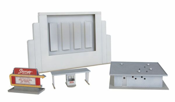 HO Scale Walthers 933-3478 Skyview Drive-In Theater Kit