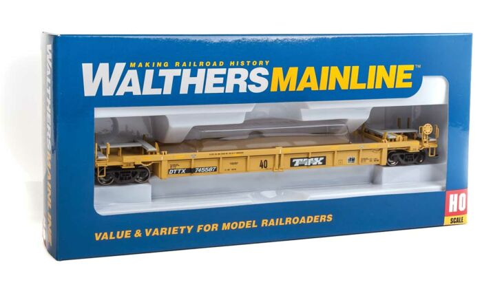 Walthers HO Scale Thrall Rebuilt 40/' Well Car Trailer-Train//TTX//DTTX #745587