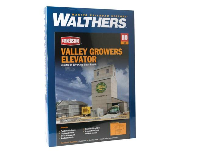 Walthers - Valley Growers Association Steel Grain Elevator - Kit - 933-3096