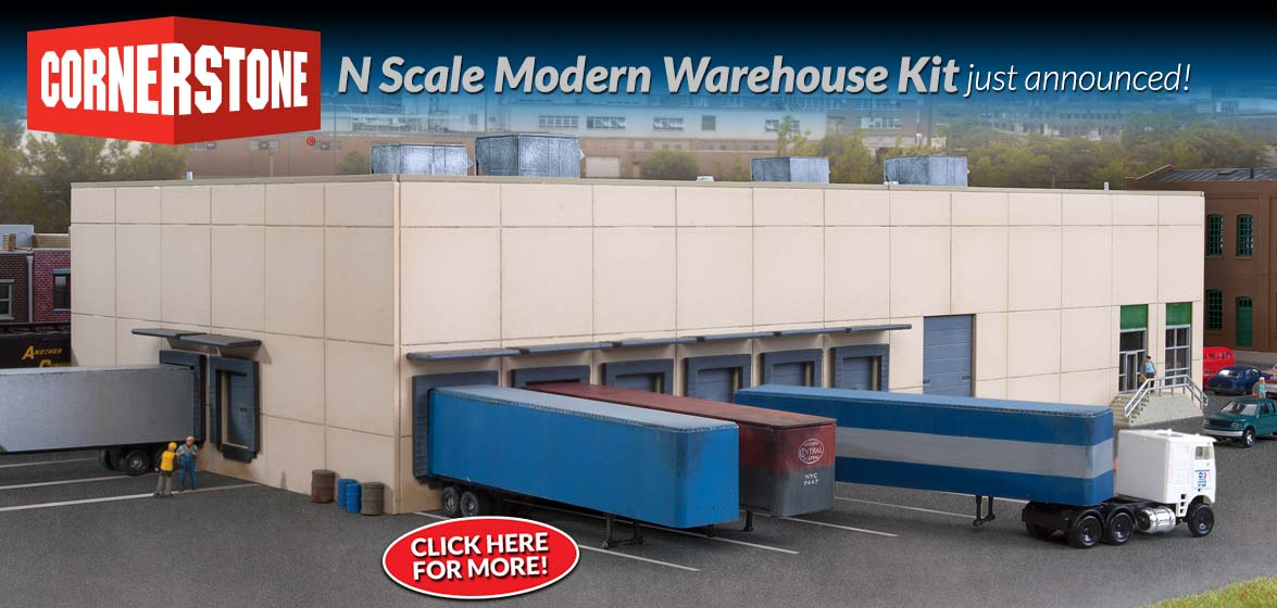 N Scale Modern Warehouse