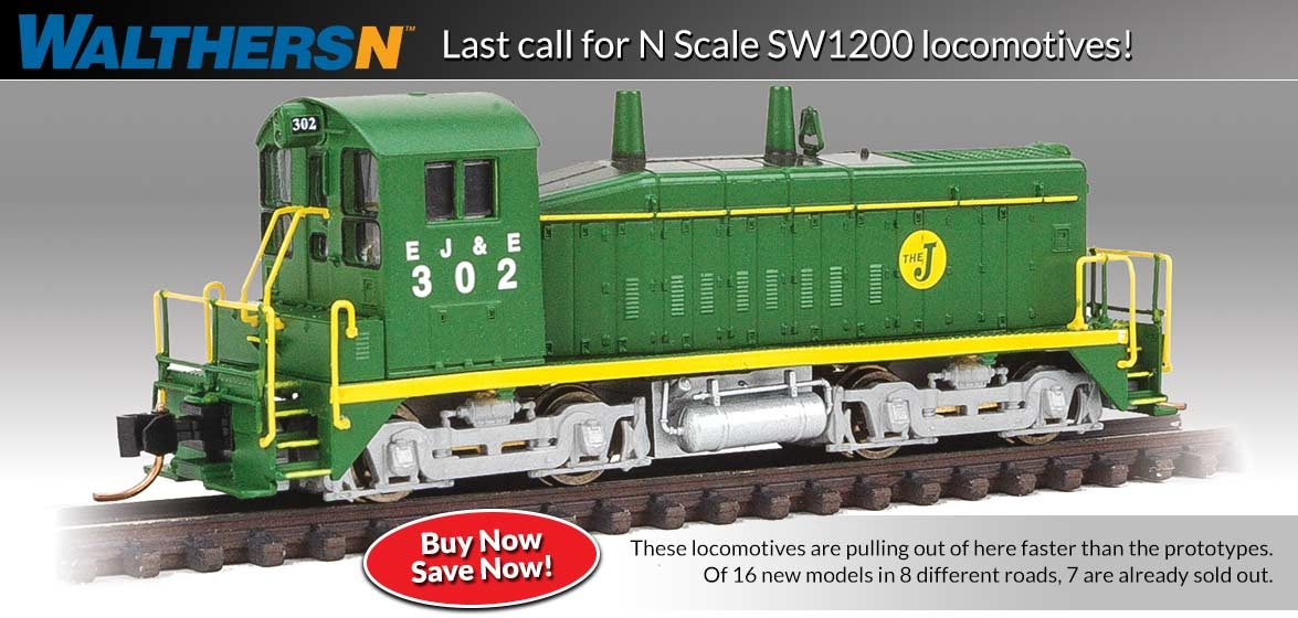 N Scale SW1200 Locomotives