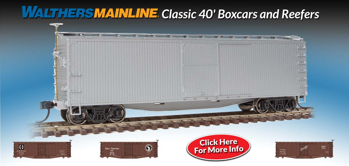 40' Boxcars and Reefers