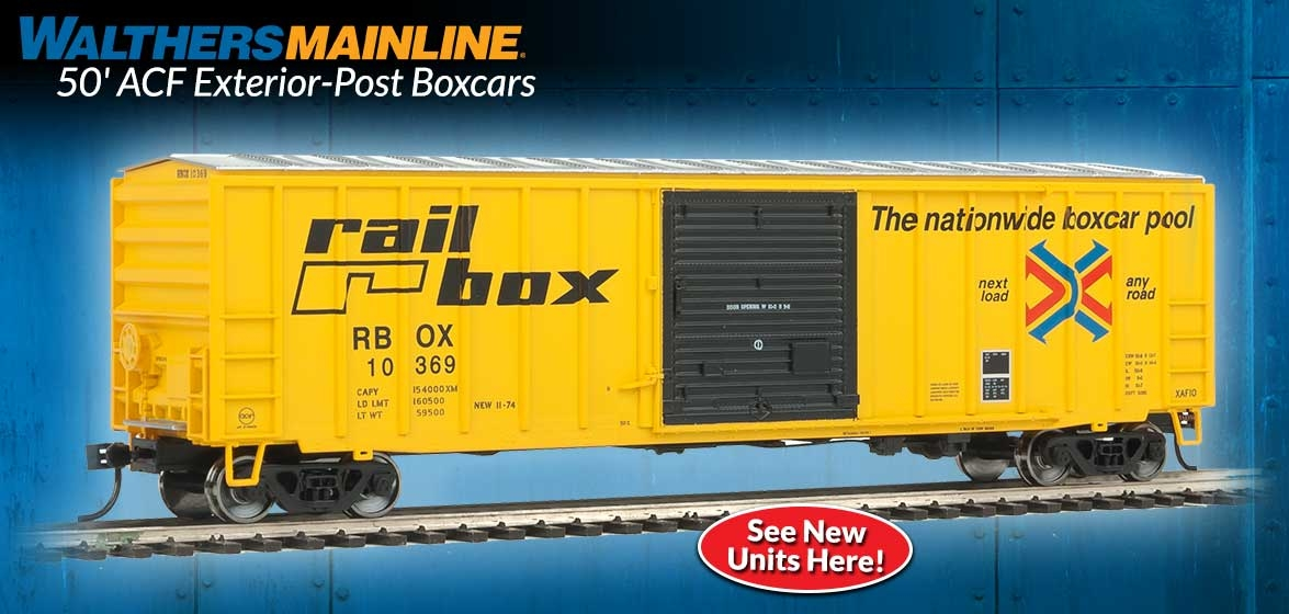 50' ACF Exterior-Post Boxcars