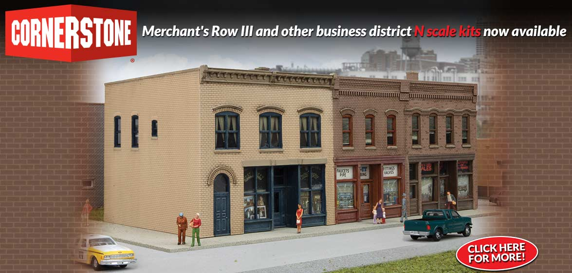 N Scale Cornerstone Merchant's Row III
