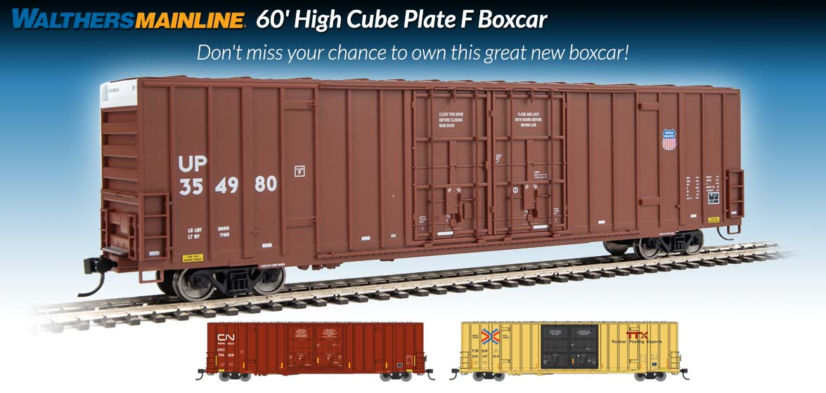 60' High Cube<br />Plate F Boxcar