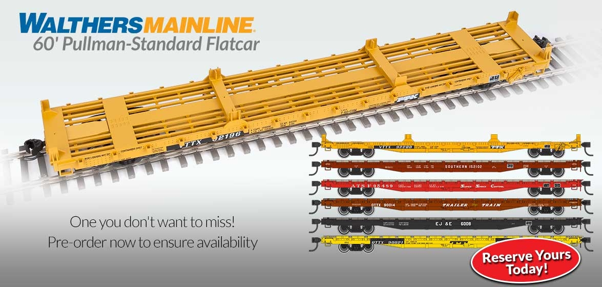 WalthersMainline 60'<br />Pullman-Standard Flatcar