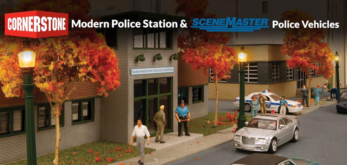 Cornerstone Modern Police Station and Scenemaster Police Vehicles